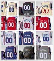 Özel Baskılı Basketbol Formaları Dwight 39 Howard 31 Seth Köri 1 Mike Scott 22 Matisse Thybulle 0 Tyrese Maxey 30 Furkan Korkmaz Jersey