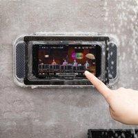 Mobiltelefonhalterung Halterung Home Wandständer Wasserdichte Bewegliche Box Selbstklebende Halter Touchscreen Badezimmer Schale Dusche Dichtungslagerung