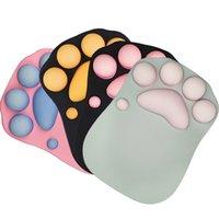 Tampon 3D Souris Soft Silicone mignon Cat Paw Matte Memory Mousse Sous-poignet Resques Coussins Pad pour enfants pour enfants Plaque d'ordinateur 210615