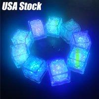 Décoration lumineuse de glace colorée de glaçon de glace LED Block fluorescent Capteur de clignotant Induction Lampe de glace Mariage Saint Valentin
