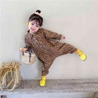 여자 jumpsuit 어린이 의류 가을 유아 캐주얼 플로랄 툴링 아기 키즈 옷 일본 한국 스타일 1-6 y 210816