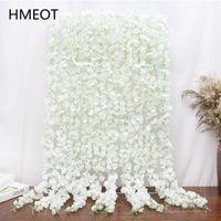 Flores decorativas grinaldas 120cm artificial flor glicínia teto pendurar parede flor de cerejeira festão de videira cadeia de fundo casamento decoração wr