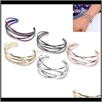 Bangle Jewelrymultilayer Geometry Hollow Out Vintage Punk Bracelets & Bangles For Women Jewelry Wholesale Drop Delivery 2021 Gqob9