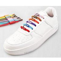 Yaratıcı Muti Renk Rahat Spor Elastik Shoelace Metal Kapsül Toka 110 cm Yarım Daire Tembel Ayakabı Ücretsiz Shoelace Ayakkabı Aksesuarları