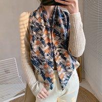 Design di lusso Sciarpe quadrate satinato Selfy sensazione Sarfs e scialli involucro avvolge Hijabs Hijabs foulard della donna vintage floreale sciarpa musulmana hijab silenziatore inverno