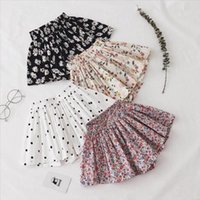 Shorts Summer Floral Print Girls Skirt For Children Clothing Skirt-Pants Kids Tutu Loose Leg Pants Baby Clothes Size 2-6