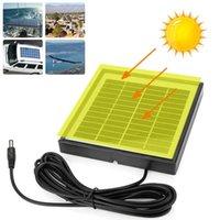 Chargeur de batterie de panneau solaire portable 5W 12V Polysilicon pour la voiture RV Bateau avec câble 3M