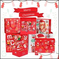 Event Festive Party Supplies Home & Gardenmerry Christmas Gift Wrap Paper Bag Xmas Tree Packing Snowflake Candy Box Year Kids Favors Bags De