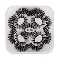 False Eyelashes 9 Pairs 3D Fake Lashes Makeup Kit Dramatic Volume Thick Long Mink Extension Faux Maquiagem