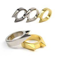 Outdoor broken window protection equipment defense rings self-defense single finger Cat Ear ring for girls