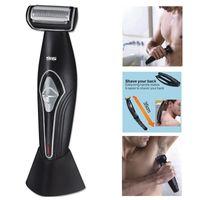 Facial, Corps, Back Rasage Machine Secuelle Secuelle Électrique Shaver Hair Feuille Électrique Razor Beard Barby Hommes Set de toilettage professionnel 210326