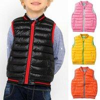 Vest 2-7 Years Unisex Kids Winter Warm Child Waistcoat Children Outerwear Coats Clothes Cotton Boys Girls