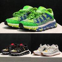 رجل إيطاليا TRIGRECA أحذية رياضية عارضة أحذية بيضاء الذهب اللثة طباعة أسود فضي عميق الأزرق الأخضر رمادي النساء الرجال المدربين 5.5-11