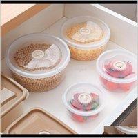 Conjunto de 4 plástico contenedor caja de almacenamiento de alimentos harina tuerca de arroz nueces nffmx botellas tarros sakyx