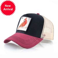 Men's Baseball Cap With Bird Embroidery Patch Summer Breahable Mesh Snapback Dad Hat For Women Fashion Hip Hop Trucker Casquette