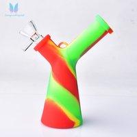Arcobaleno corno da collezione narghilè tubo in silicone tubo di tabacco