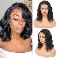 Lace Wigs Short Bob Wig 13x4 Frontal Body Wave Human Hair Front Brazilian 4X4 Closure For Black Women KEMY