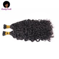 Human Hair Bulks Tip Extensions Kinky Curly Microlink I For Black Women