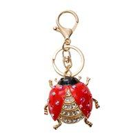 هدية صغيرة الماس خنفساء سبيكة المفاتيح الأشرطة سحر مخصص لطيف المعلقات الإبداعية قلادة اكسسوارات الهاتف الخليوي