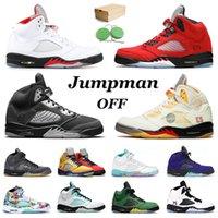 NikeAirJordanRetro5Jordans5sJumpmanAJ off white أحذية عالية الجودة 5 رجال لكرة السلة  ما قبالة الأبيض الحريرالأردنالمدربون أزياء الرجعية SE أوريغون رجل حذاء رياضة