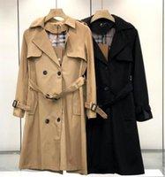 Manteaux de veste à coupe-vent pour femmes à la mode Manteaux de luxe de luxe de luxe Berry Couleur Couleur de haute qualité