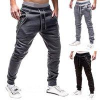 Men's Pants Fitness Sweatpants Sportswear Elastic Trousers Men Jogger Mens Gyms Bottom Track Casual Tracksuit Joggers
