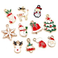 Charms 38pcs Christmas Charm Pendant For DIY Jewelry Making Necklace Bracelet Earring Findings Alloy Craft Supplies