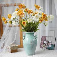 الديكور أقحوان الحمى فرع الزهور الاصطناعية ل المنزل حديقة الديكور فلور الاصطناعي غرفة ديكور فلوريس اكليل