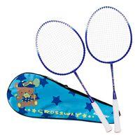 2 stücke professionelle kinder badmintonschläger set kinder doppel badminton schläger titanium legierung leichtste spiel badminton