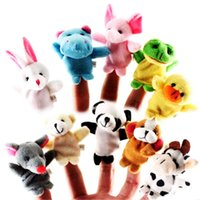 10 Pcs  Lot Baby Toys The Parent-child Game Props Teaching Props Double Cloth Dolls Animal Finger Puppet To Appease The Toys L0323