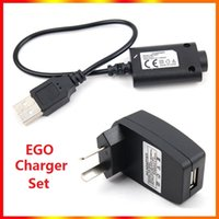 Electronic Cigarette Charger Set USB chargers Cable US EU AU Wall Adapter for EGO e EGO-CE4 T K W In stock DHL