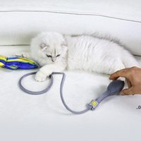 Floppy Fish Cat Kick Mastic Toy Interactive Catnip Realistic Manual Airbag M Wiggle Tail Cail Almohada con Bell FWA7485