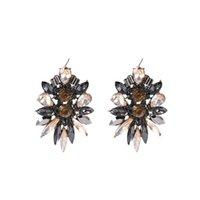 Europa e Stati Uniti Nuova delicata lusso Super Flash Crystal Full Diamond Orecchini Fashion Trend Trend Red Tappeto