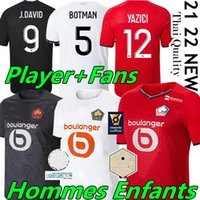 Losc Lille Soccer Jerseys 2021 2022 David Fonte Burak Bamba Yaza 21/22 Lille Olympique Jikone RSHEST