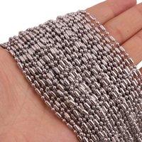 Cadenas 1.5 / 2 / 2.4 / 3mm al por mayor 10/20 / 50 / 100pcs / lote Color de plata de acero inoxidable de acero inoxidable Collar de cadena de cadena de bambú DIY Hallazgos de la joyería