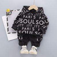 2 unids niño niño bebé niñas ropa conjuntos tops hoodie camiseta + pantalones traje de ropa ropa ropa ropa casual chándal 0-4 años 81 z2