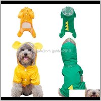 ملابس لطيف الكلب المعطف مقنعين الملابس للماء للكلاب الصغيرة المتوسطة في جرو الأصفر تنفس المعاطف الحيوانات الأليفة اللوازم OY9D V0A2W