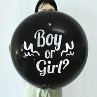 Party Decoration Black Gender Reveal Balloon Boy Or Girl Latex Balloons Baby Confetti Baloon Decorations Supplies 36 Inch