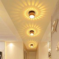 أضواء السقف أدى ضوء الحديثة دوامة مصباح ملون لغرفة المعيشة معرض الشرفة ممر KTV بار حزب إضاءة المنزل 3W