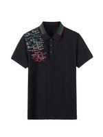21ss Polo Shirts para hombre camisetas de moda Bordado de moda Letras de impresión de negocios Manga corta Cálssic Tshirt Skateboard Casual Tops TEE M-3XL