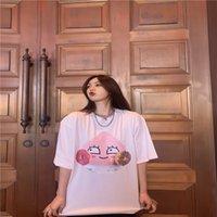 العلامة التجارية الأزياء الكورية العلامة التجارية farto com قميص الإناث سوبر النار نجمة نفس عشاق دونات أعلى الأكمام