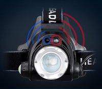 Farol de sensor inteligente impermeável xm-l T6 LED Teadlamp zoom recarregável 18650 bateria cabeça lanterna lanterna carregador de tocha para caça noite pesca