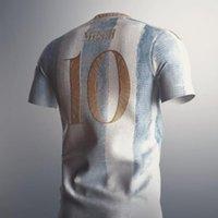 Top-Qualität 2021 22 Hemd Kun Aguero LO Celso Dybala L. Martinez Maradona di Maria Ocampos Otamendi Argentiniens Herren T-Shirts