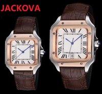 men roman dial designer genuine leather watches 5711 silver rose gold blue 904L steel case mens womens japan quartz movement montre de luxe wristwatch