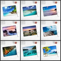 Mouse Pads & Wrist Rests XGZ Promotional Seaside Landscape Game Player Pad Natural Rubber Non-slip Mousepad 180x220x2mm Locking Edge
