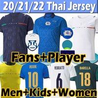 Itália Novo 21/22 Camisa de futebol versão Torcedor jogador 2021 Italy soccer Jerseys IMMOBILE BARELLA INSIGNE CHIELLINI BERNARDESCHI Homens mulheres crianças kits Camisas
