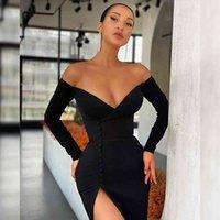 Elbise swtao kadın siyah çizgili zarif seksi, kapalı omuz, gece elbisesi, gece kulübü, bahar 2021 oohp