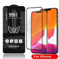 99H Free Full Cover Tempered Glass Phone Screen Protectors Anti Scratch For iPhone 13 12 11 Pro Max XR XS 6S 7 8 Plus SE