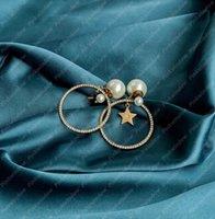 2021 Femmes Boucles d'oreilles Mode Bijoux Perles Femmes Designers Designers Boucles d'oreilles Boucles d'oreilles Perles Boucles d'oreilles D Designer Boucle d'oreille Silver Boucles 2104161L