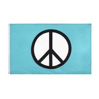 Bandiera del simbolo di pace all'ingrosso Freeshipping Stock Fabbrica diretta Appeso 90x150cm 3x5ft